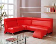 Ъглов диван в червено