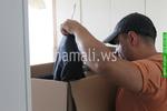 преместване на дрехи със специални кашони