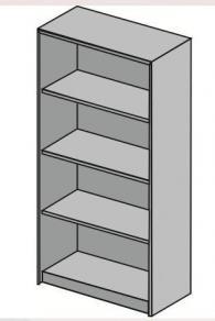 Стелаж с размери 80х40х162см