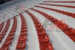 Пластмасови седалки за открити и закрити спортни трибуни